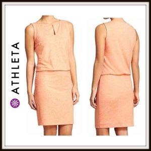 Athleta Vida Sleeveless Dress Tiger Lily Orange